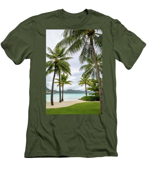 Men's T-Shirt (Slim Fit) featuring the photograph Palm Trees 1 by Sharon Jones