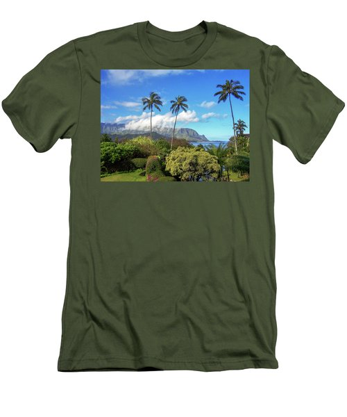 Palms At Hanalei Men's T-Shirt (Athletic Fit)