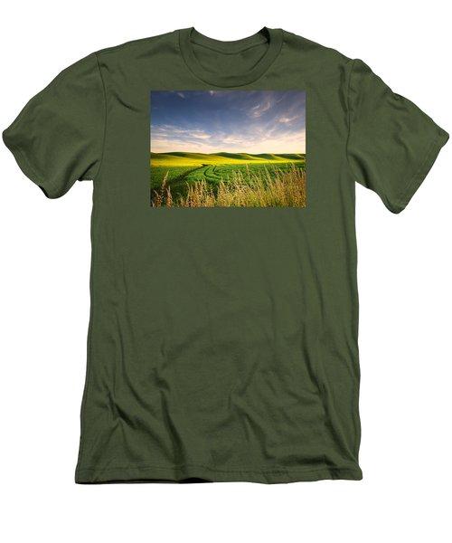 Men's T-Shirt (Slim Fit) featuring the photograph Palouse Bounty by Dan Mihai