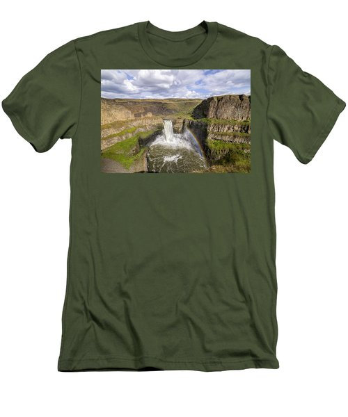 Palouse Falls Men's T-Shirt (Slim Fit) by Albert Seger