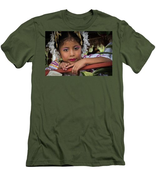 Panamanian Girl On Float In Parade Men's T-Shirt (Athletic Fit)