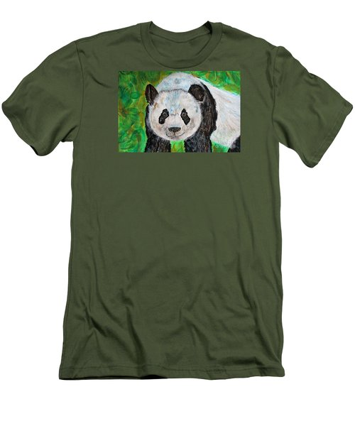 Panda Men's T-Shirt (Slim Fit)