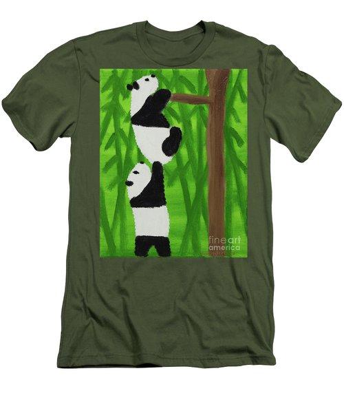Pandas Men's T-Shirt (Athletic Fit)