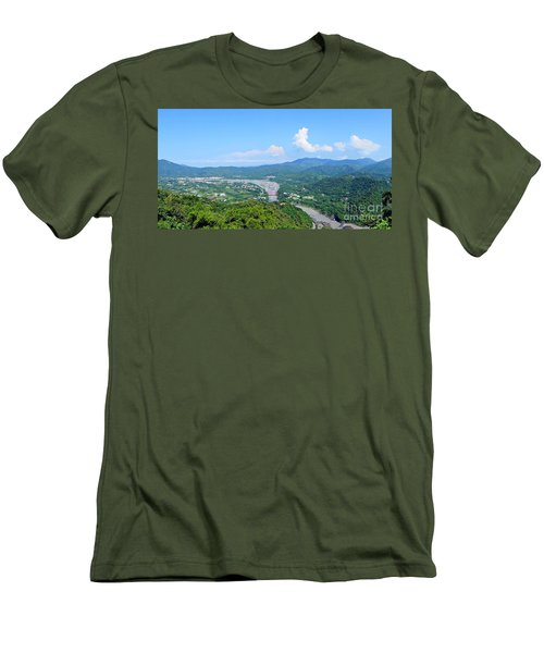 Men's T-Shirt (Slim Fit) featuring the photograph Panoramic View Of Southern Taiwan by Yali Shi