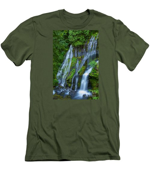 Panther Creek Falls Summer Waterfall 1 Men's T-Shirt (Athletic Fit)