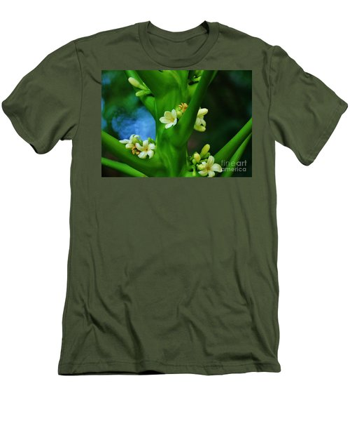 Papaya Blossoms Men's T-Shirt (Athletic Fit)