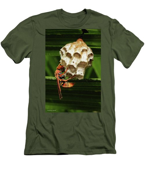 Paper Wasps 00666 Men's T-Shirt (Slim Fit) by Kevin Chippindall