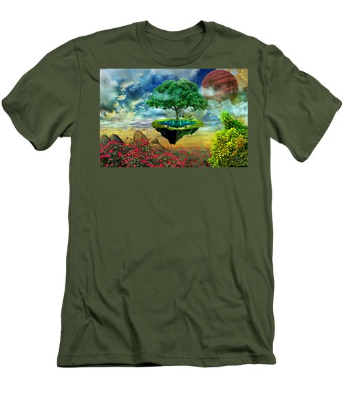 Paradise Island Men's T-Shirt (Slim Fit) by Ally White