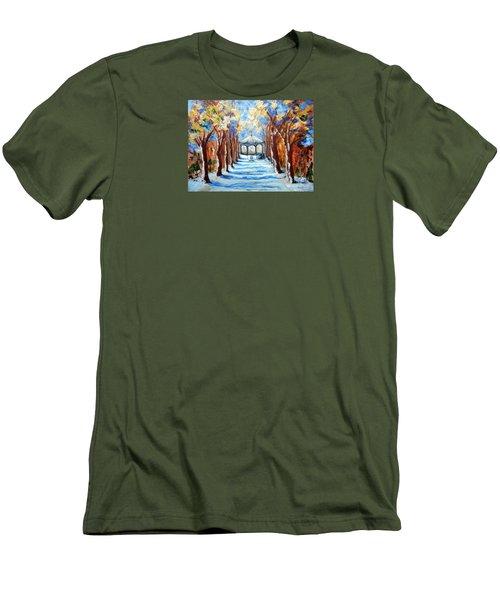 Park Zrinjevac Men's T-Shirt (Slim Fit) by Jasna Dragun