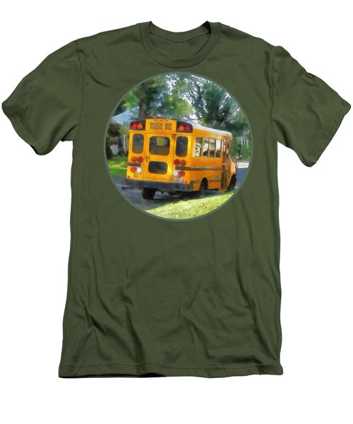 Parked School Bus Men's T-Shirt (Slim Fit) by Susan Savad
