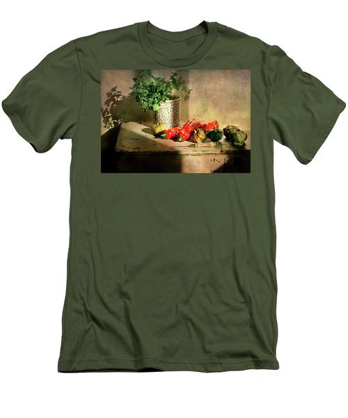 Men's T-Shirt (Slim Fit) featuring the photograph Parsley And Peppers by Diana Angstadt