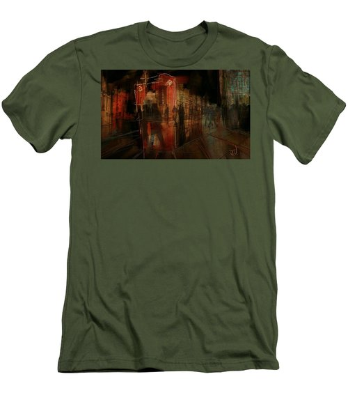 Passers In The Night Men's T-Shirt (Slim Fit) by Jim Vance
