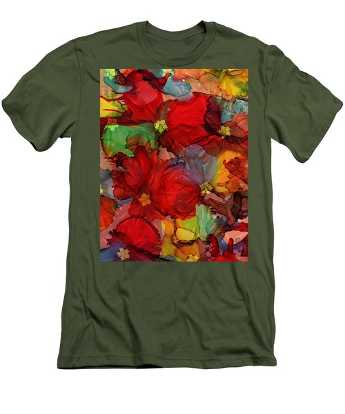 Passion Of Flowers Men's T-Shirt (Athletic Fit)