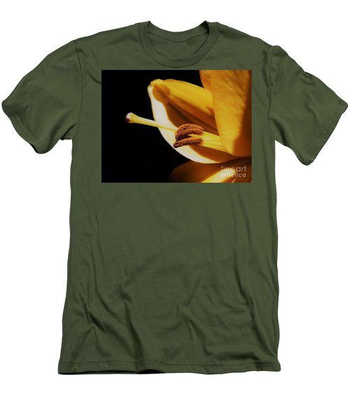 Passionate Yellow Lily Men's T-Shirt (Athletic Fit)