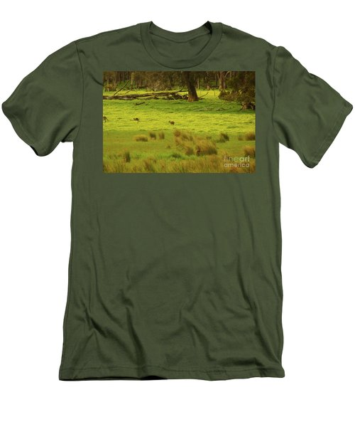 Pasture In Boranup Men's T-Shirt (Slim Fit) by Cassandra Buckley