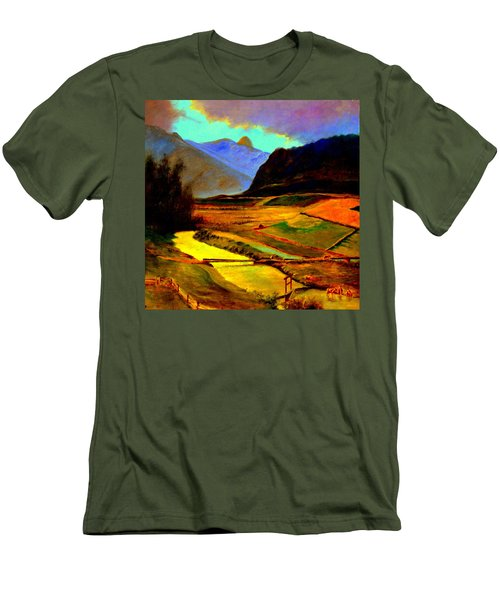 Pasture In The Mountains Men's T-Shirt (Athletic Fit)