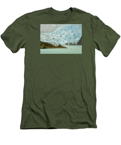 Men's T-Shirt (Slim Fit) featuring the photograph Patagonia Glacier by Alan Toepfer