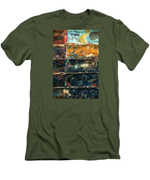 Patchworks 3 Men's T-Shirt (Slim Fit) by Newel Hunter