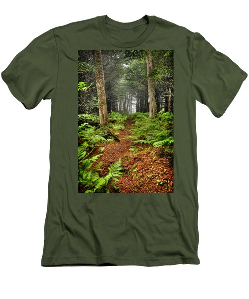 Path In The Ferns Men's T-Shirt (Athletic Fit)