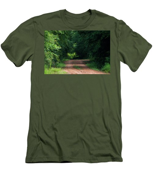 Men's T-Shirt (Slim Fit) featuring the photograph Path Of Light Horizontal by Shelby Young