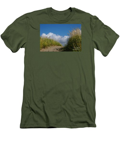Men's T-Shirt (Slim Fit) featuring the photograph Path To The Beach by Jeanette French