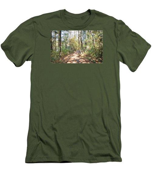 Pathway In The Woods Men's T-Shirt (Slim Fit) by Rena Trepanier