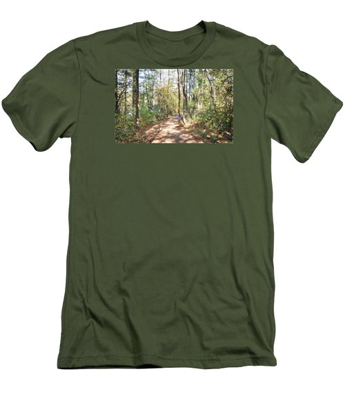 Pathway In The Woods Men's T-Shirt (Athletic Fit)