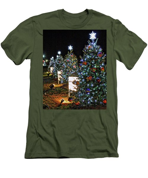 Men's T-Shirt (Slim Fit) featuring the photograph Pathway Of Peace by Suzanne Stout
