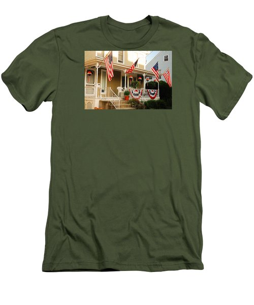 Men's T-Shirt (Slim Fit) featuring the photograph Patriotic Home by James Kirkikis