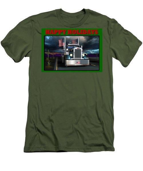 Patriotic Pete Happy Holidays Men's T-Shirt (Slim Fit) by Stuart Swartz