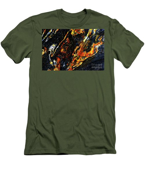 Men's T-Shirt (Slim Fit) featuring the photograph Patterns In Stone - 188 by Paul W Faust - Impressions of Light