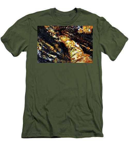 Men's T-Shirt (Slim Fit) featuring the photograph Patterns In Stone - 190 by Paul W Faust - Impressions of Light