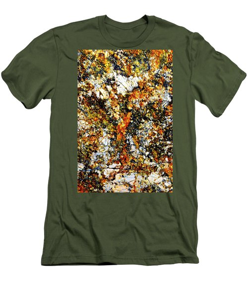Men's T-Shirt (Slim Fit) featuring the photograph Patterns In Stone - 207 by Paul W Faust - Impressions of Light