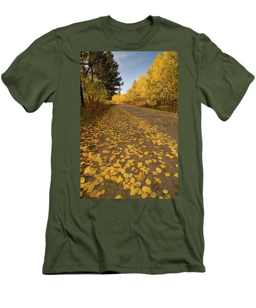 Men's T-Shirt (Slim Fit) featuring the photograph Paved In Gold by Steve Stuller