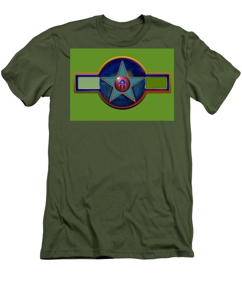 Men's T-Shirt (Slim Fit) featuring the digital art Pax Americana Decal by Charles Stuart
