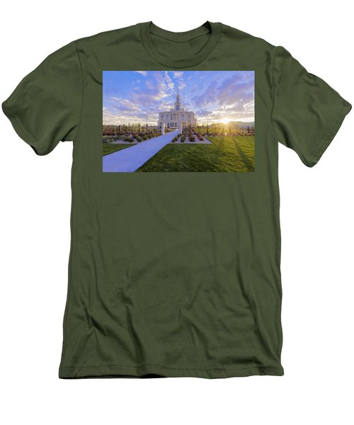 Men's T-Shirt (Slim Fit) featuring the photograph Payson Temple I by Chad Dutson