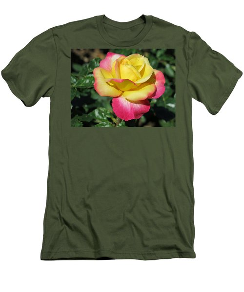Peace And Love Rose Men's T-Shirt (Slim Fit) by Betty Buller Whitehead