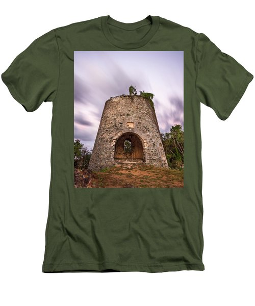 Men's T-Shirt (Slim Fit) featuring the photograph Peace Hill Sugar Mill by Adam Romanowicz