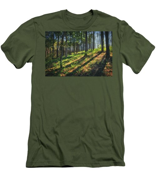 Peaceful Forest 4 - Spring At Retzer Nature Center Men's T-Shirt (Slim Fit) by Jennifer Rondinelli Reilly - Fine Art Photography