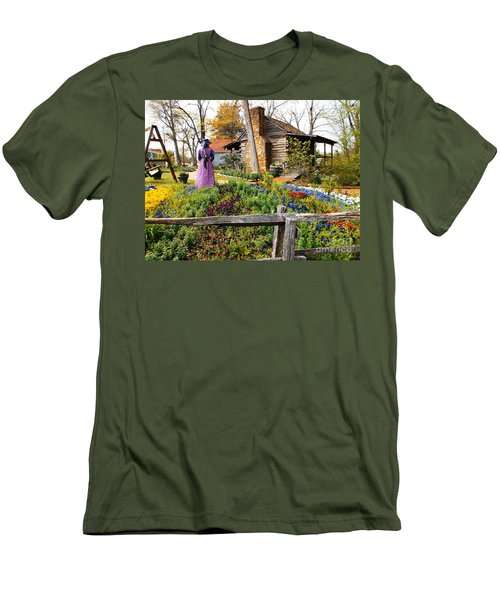Peaceful Garden Walk Men's T-Shirt (Athletic Fit)