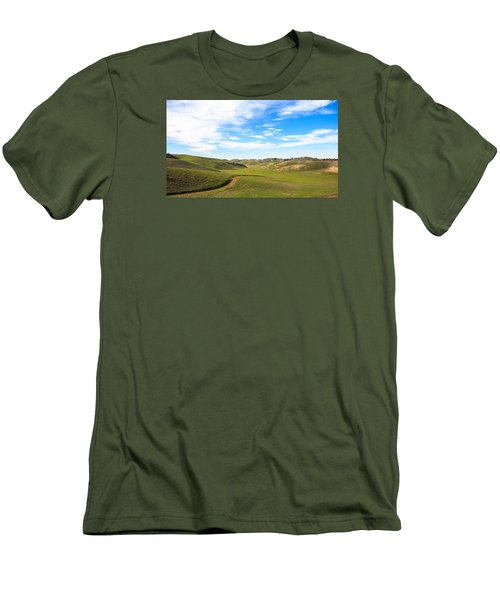 Peaceful Men's T-Shirt (Slim Fit) by Hyuntae Kim