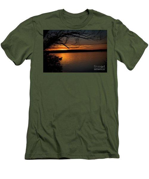 Peaceful Nights Men's T-Shirt (Slim Fit) by Deborah Klubertanz