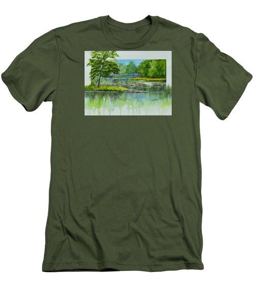 Peaceful River Men's T-Shirt (Athletic Fit)