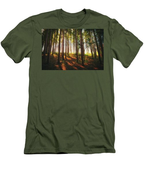 Peaceful Wisconsin Forest 2 - Spring At Retzer Nature Center Men's T-Shirt (Slim Fit) by Jennifer Rondinelli Reilly - Fine Art Photography