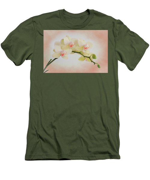 Peach Orchid Spray Men's T-Shirt (Athletic Fit)