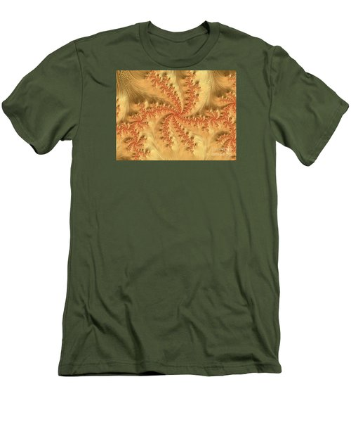 Men's T-Shirt (Slim Fit) featuring the digital art Peaches And Cream by Elaine Teague