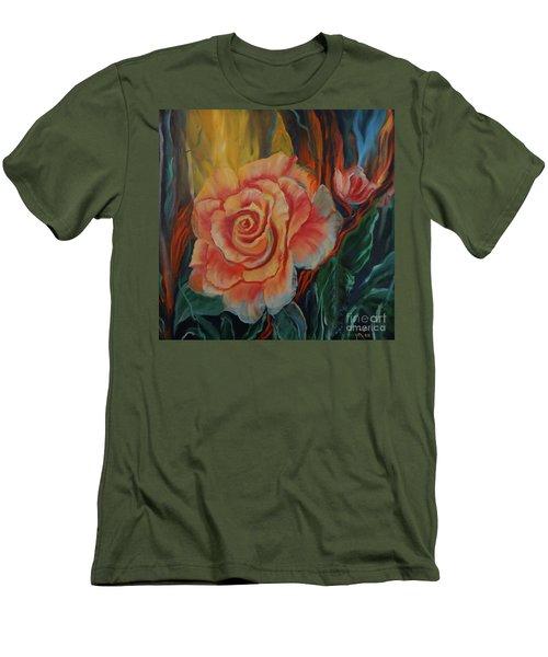 Peachy Rose Men's T-Shirt (Slim Fit)