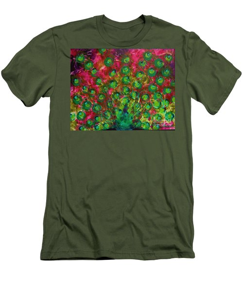 Peacock Impressions Men's T-Shirt (Athletic Fit)