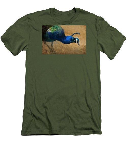 Peacock Light Men's T-Shirt (Slim Fit) by Aaron Blaise