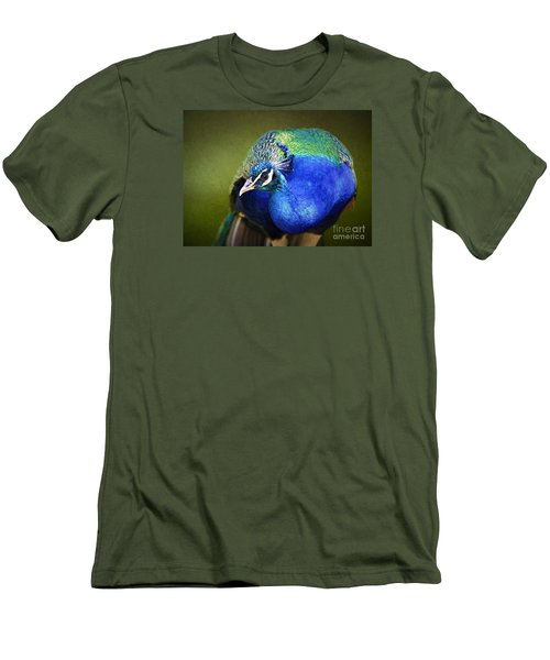 Peacock Men's T-Shirt (Slim Fit) by Suzanne Handel